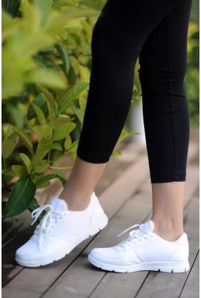 Pembe Potin Kadın Beyaz Ayakkabı A1971-20