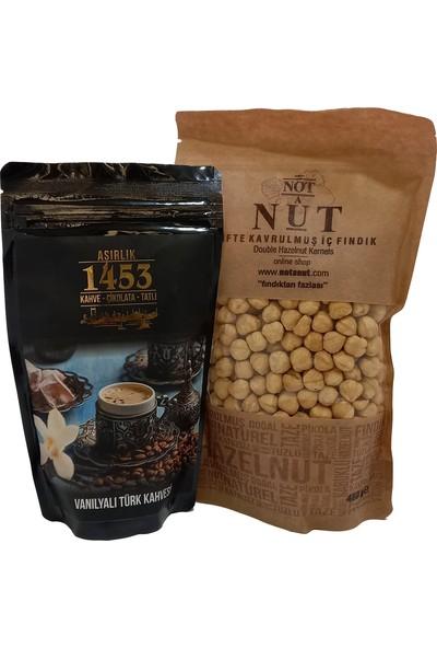 Asırlık Kahve 1453 Vanilyalı Türk Kahvesi 200 gr ve 480 gr Giresun Fındığı - 2 Li Avantaj Paket