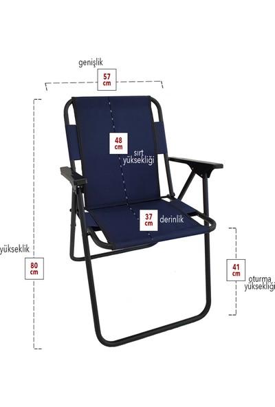 Bofigo Kamp Sandalyesi Katlanır Sandalye Piknik Sandalyesi Plaj Sandalyesi - Lacivert