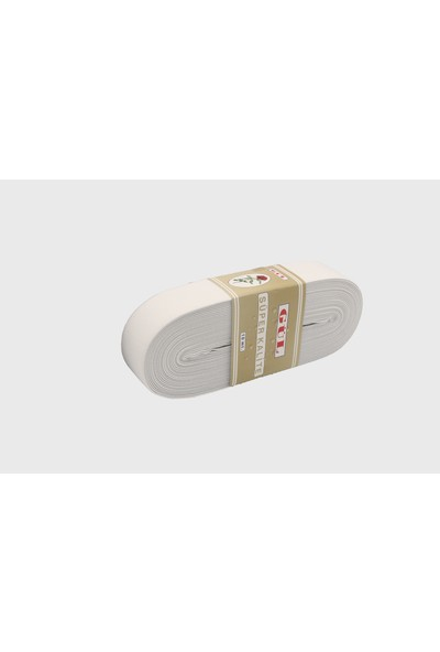 Gül Yumuşak Dokuma Paça Lastikleri Altın 4 cm Beyaz