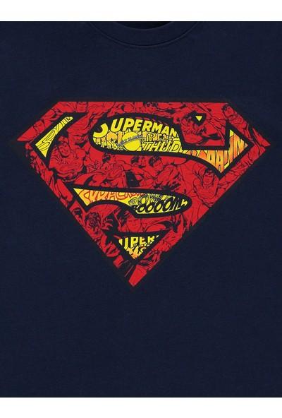 Superman Erkek Çocuk Sweatshirt 6-9 Yaş Lacivert