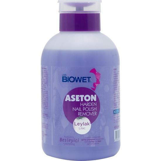 Lady Biowet Biowet Leylak Parfümlü Pompalı Aseton 450 ml