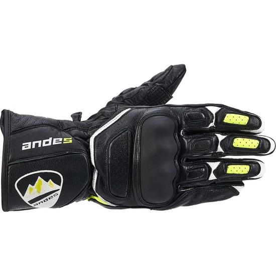 Andes Sp-8 Leather Gloves Motosiklet Eldiveni