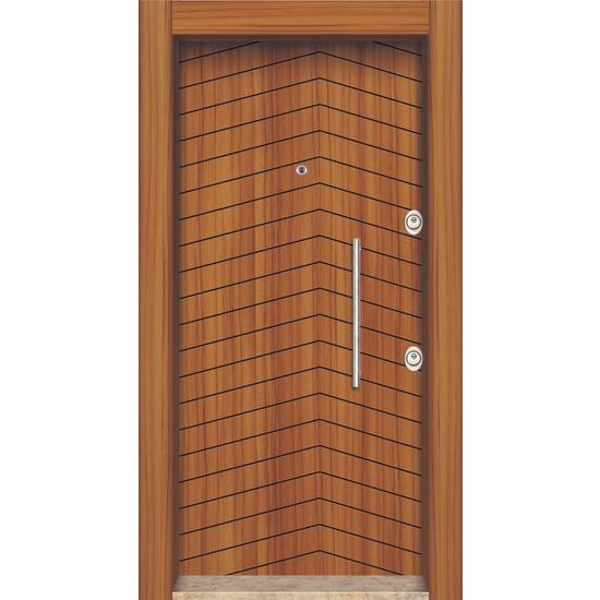 Mono Çelik Kapı MN-1825 Sağ Classic Laminoks Meşe Renk Çelik Kapı
