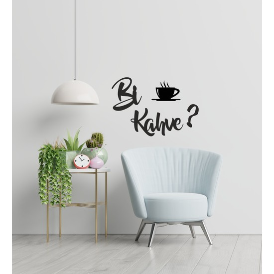 Ikbal Market Bi Kahve Ahşap Dekoratif Mutfak Duvar Tablosu