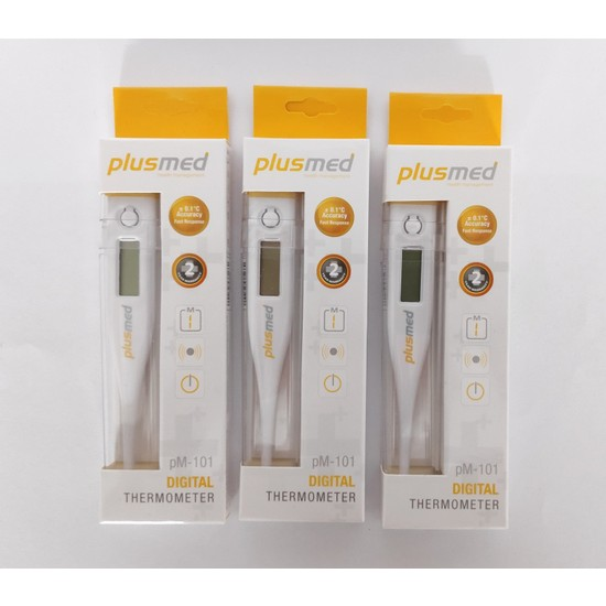 Plus Med Plusmed Pm 101 Dijital Koltuk Altı Beden Derecesi Thermometer 3 Adet Kutuda 3 Adet