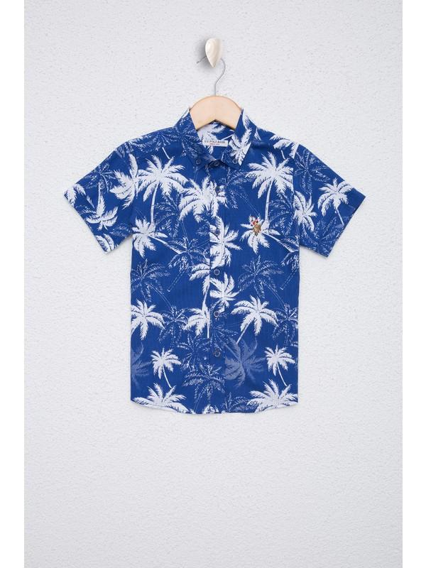U.S. Polo Assn. Erkek Çocuk Lacivert Gömlek Kısakol 50219416-VR033