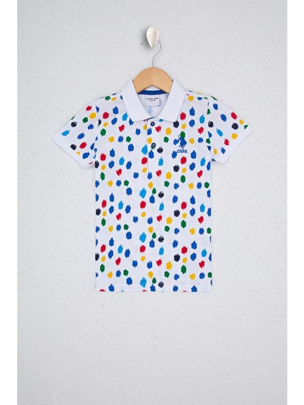 U.S. Polo Assn. Erkek Çocuk Beyaz T-Shirt 50238420-VR013