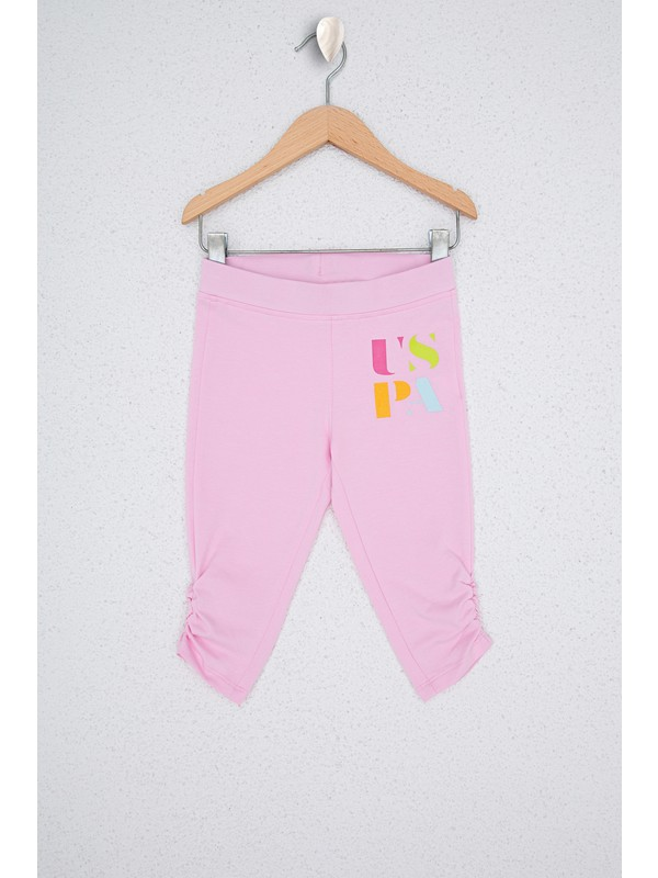 U.S. Polo Assn. Kız Çocuk Pembe Örme Pantolon 50234815-VR078