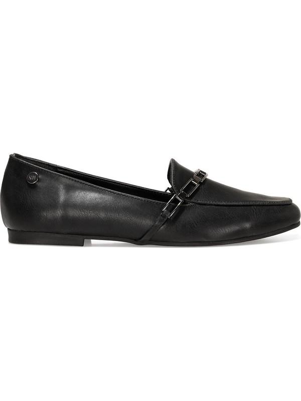 Nine West Gendar 1fx Siyah Kadın Loafer Ayakkabı