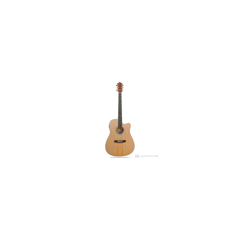 clariss cag 200ce nat elektro akustik gitar