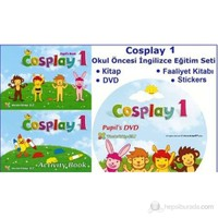 Cosplay 1 Okul Öncesi İngilizce Eğitim Seti (kitap +Faaliyet Kitabı +DVD +Stickers)