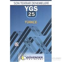 Güvender YGS Son Tekrar 25 Türkçe Denemeleri