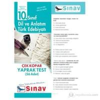 Sınav Dergis iDil ve Anlatım Türk Edebiyatı Yaprak Test (56 Adet)