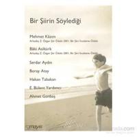 Bir Şiirin Söylediği-Ahmet Günbaş