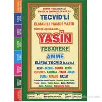 Türkçe Açıklamalı Yasin Tebareke Amme (Çanta Boy, Fihristli) (Büyük Yazılı, Renkli Elifba Tecvid İla