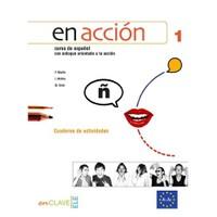 En Acción 1 Cuaderno De Actividades (Etkinlik Kitabı +Audio Descargable) İspanyolca Temel Ve Orta-Alt Seviye-Felipe Martin