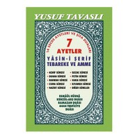 7 Ayetler Yasin-i Şerif Tebareke Ve Amme Dualar - Türkçeli (ıı. Hamur) (dergi Boy)