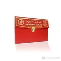 Kur'an-ı Kerim 30 Cüz Hatim Seti (Hafız Boy, Çantalı, Kırmızı Kapak, Kod: 111)