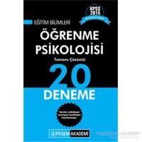 Pegem KPSS Eğitim Bilimleri Öğrenme Psikolojisi Tamamı Çözümlü 20 Deneme 2015