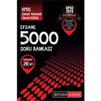 Pegem KPSS Genel Yetenek Genel Kültür Efsane 5000 Soru Bankası 2016