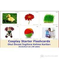 Cosplay Starter Flashcards - Okul Öncesi İngilizce Kelime Kartları (40 adet) (24,5x33,5 cm)