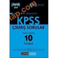 Pegem Kpss 2014 (Lisans) Tamamı Çözümlü 10 Fasikül Çıkmış Sorular