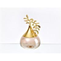 Lucky Art Gold Amber Yapraklı Dekor - Cd 014