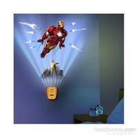 Avengers Iron Man Sesli Oda Işığı Ve Duvar Kağıdı Seti
