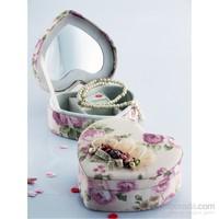 Mukko Home Kalp Aynalı Takı Kutusu (Pembe)