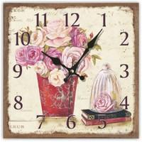 Bahar Çiçekleri Kare Mdf Duvar Saati