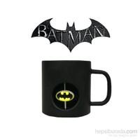 Dc Universe: Batman 3D Rotating Logo Crystal Bardak