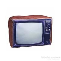 Retro Televizyon Dev Yastık
