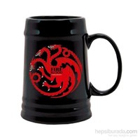 Game Of Thrones Targaryen Black Ceramic Stein Bardak