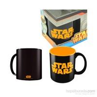 Star Wars: Orange Black Logo Ceramic Mug Bardak