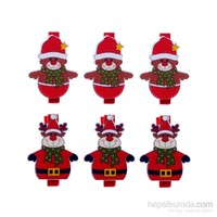KullanAtMarket Noel Ayıcıklı Yılbaşı Mandal