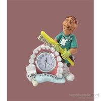 Gift Cloud Dişçi Figürlü Masa Saati