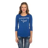 Colin's Mavi Kadın Tshirt Uzun Kol