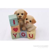 Yavru Köpekler Figürlü Biblo