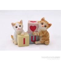 Yavru Kediler Figürlü Biblo