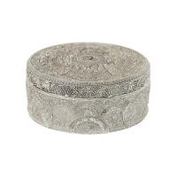 Çağ Deccor Gümüş Küçük Telkari Mücevher Kutusu