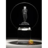 Üç Boyutlu Kristal Küre Atatürk Figürü