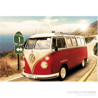 Vw Camper Route One Maxi Poster