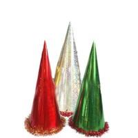 Pandoli Büyük Boy Kar Desenli Karton Parti Şapkası 250 Adet