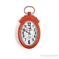 Lucky Art Kırmızı Duvar Saati 40 Cm