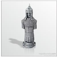 Cevşen İşlemeli Miğferli Gümüş Yaldız Kaftan Biblo