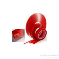 Çift Taraflı Montaj Bantı Silikonlu Şeffaf Tape Transparent 5 Metre