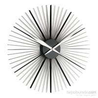 """""""Daisy""""Duvar Saati Siyah-Beyaz"""