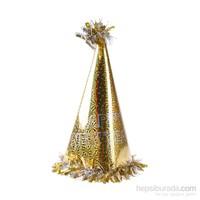 KullanAtMarket Happy New Year Altin Yılbaşı Şapkası 1 Adet