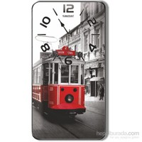 Taksim Tramvay Desenli Duvar Saati